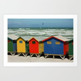 southafrica ... muizenberg beach huts II Art Print