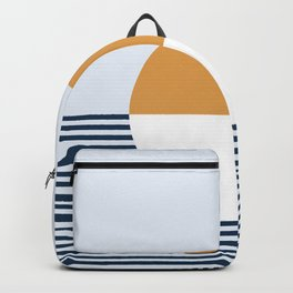 Sunset Sea Abstract Backpack