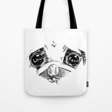Mao a pug that love food Tote Bag