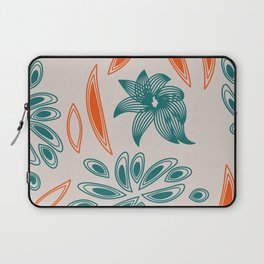 pattern with flowers and leaves Laptop Sleeve