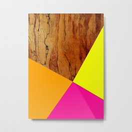 Wooden Colour Blocking Metal Print
