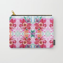 Marbling Florals  Carry-All Pouch
