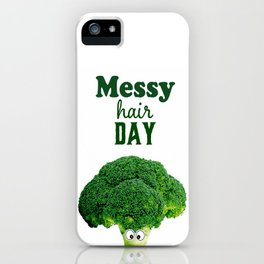 Messy hair day iPhone Case