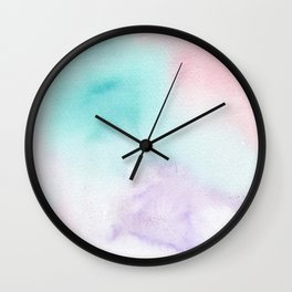 Abstract Watercolor. Sunset Wall Clock