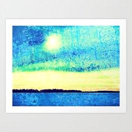 Sun Seeking Expression Digital Art Art Print