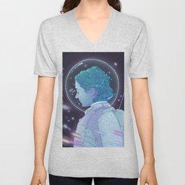 Astronaut Girl Unisex V-Neck