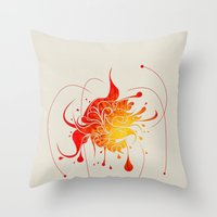 vector Throw Pillows featuring Vector by Bill Labus