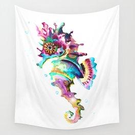 Seahorse , multi colored sea world animal art, design, cute animal art beach Wall Tapestry