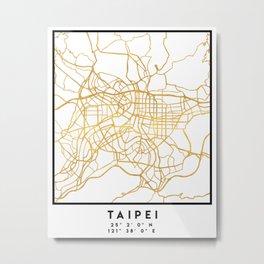 TAIPEI TAIWAN CITY STREET MAP ART Metal Print