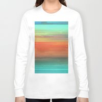 trippy Long Sleeve T-shirts featuring Trippy Serape by Cultivate Bohemia
