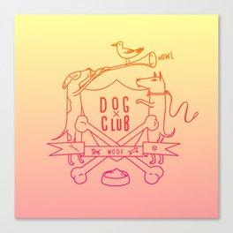 Dog Club Canvas Print