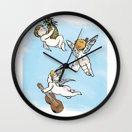 Florida Cherubs  Wall Clock
