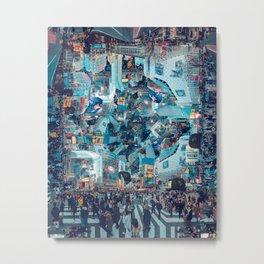 Shibuya Crossing, Repeating Mosaic Pattern 49 Metal Print
