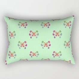 Geraniums Green Rectangular Pillow
