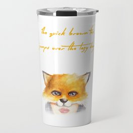 The Quick Brown Fox Travel Mug