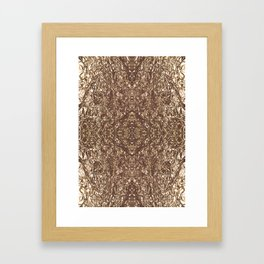 Making do with what you've got. Framed Art Print
