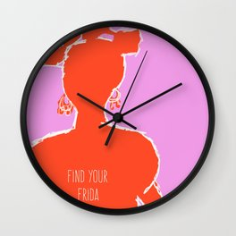 FIND YOUR FRIDA Wall Clock