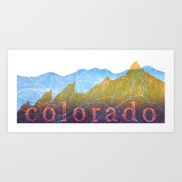 Colorado Mountain Boulder Flat Irons and Continental Divide Art Print