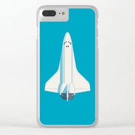 Space Shuttle Spacecraft - Cyan Clear iPhone Case