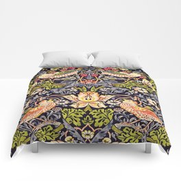 William Morris Strawberry Thief Art Nouveau Painting Comforters