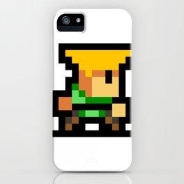 Minimalistic Guile - Pixel Art iPhone Case