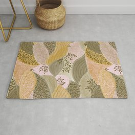 Natural abstract shapes Rug