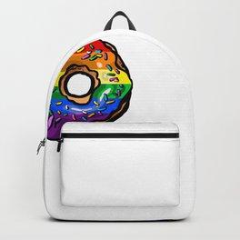 Donut lgbt rainbow flag tits gay lesbian Backpack