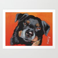 rottweiler Art Prints featuring Rottweiler by Stanley Arts