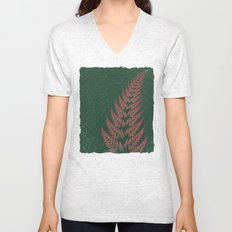 Fall Fern Fractal Unisex V-Neck