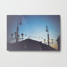 Freedom bridge - summer sunset I. Metal Print