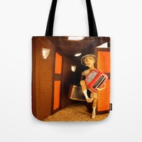 hunter s thompson Tote Bags featuring Hunter S. Thompson by SwampFox Studio
