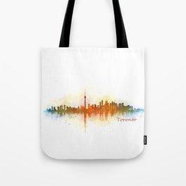 Toronto Canada City Skyline Hq v03 Tote Bag