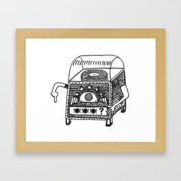 hungry jukebox Framed Art Print