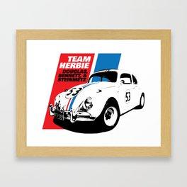 Team Herbie - Love Bug Framed Art Print
