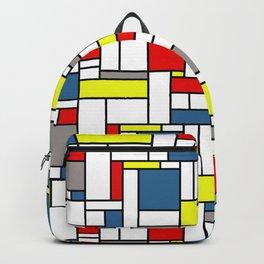 Mondrian style pattern Backpack