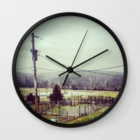 farm Wall Clocks featuring Farm by sharinerin