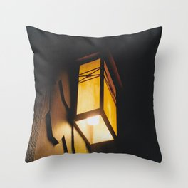 Light Rids Darkness-Film Camera Throw Pillow