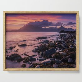 Sunset Over the Cuillin II Serving Tray