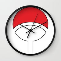 sasuke Wall Clocks featuring SASUKE Uchiha by designbook