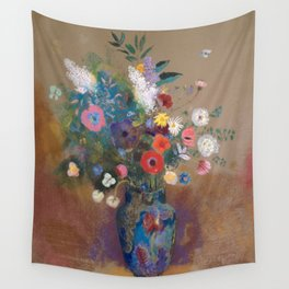 Odilon Redon - Bouquet of Flowers (1900-05) Wall Tapestry