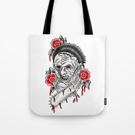 Bloody Leatherface Tote Bag