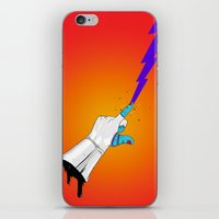 master chief iPhone & iPod Skins featuring Space Chief by Dzohn