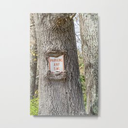 Parking Any Time Metal Print