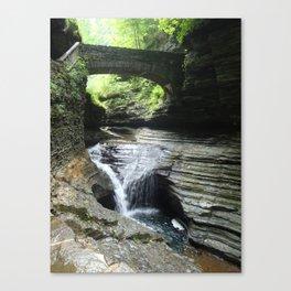 Waterfalls at Watkins Glen Canvas Print