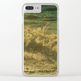 Leaping Falling Rushing #2 Clear iPhone Case