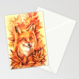 Foxy Autumn Stationery Cards