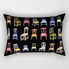 Swedish Wooden Chairs Rectangular Pillow