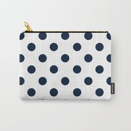 POLKA DOT DESIGN (NAVY BLUE-WHITE) Carry-All Pouch
