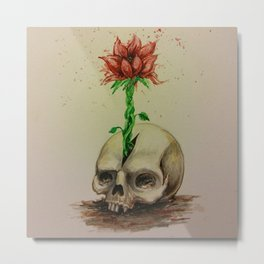 Skullflower Metal Print