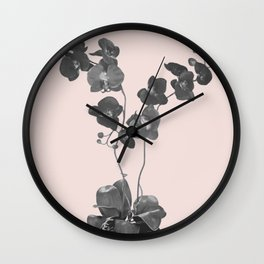 Orchid bloom in pot Wall Clock